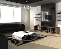 Modern Living Room For Small Spaces Fascinating Modern Living Room For Small Space With Black Sofa And