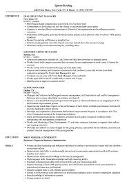 Clinic Administrator Sample Resume Clinic Manager Resume Samples Velvet Jobs 7