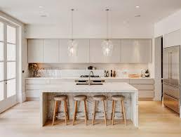 White Cabinets Light Floors Modern White Kitchen Design White River