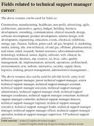 support manager resumes top 8 technical support manager resume samples