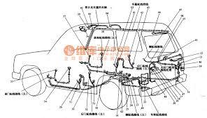 mitsubishi pajero light off road vehicle body circuit body cable mitsubishi pajero light off road vehicle body circuit body cable configuration circuit diagram