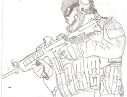 Small Picture Call Of Duty Black Ops Coloring Pages Coloring Home