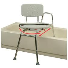 sliding swiveling bathtub transfer bench and chair