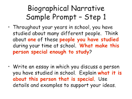 11 biographical narrative sample cahsee essay examples