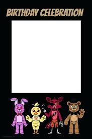 five nights at party prop frame a customize template 4x6 picture printable s poster