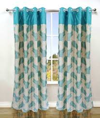 42 Off On Homefab India Set Of 2 Stylish Aqua Blue Curtains On