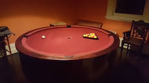 this round pool table