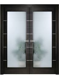 interior double door. Modern Interior Double Door Italian Black Apricot With Frosted Glass