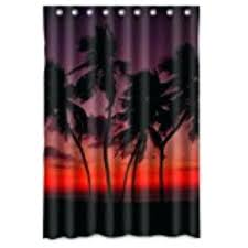 palm trees shower curtains waterproof bath curtain modern print art tree bed and beyond