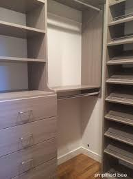 small walk in closet design simplified bee