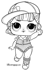Short Stop Series 3 Wave 2 L O L Surprise Doll Coloring Page Lol