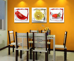 paintings for dining room walls. Exellent Dining 3 Panel Modern Wall Art Canvas Dining Room Decorative Pictures Ice  Fruit Oil Painting On Paintings For Walls AliExpress
