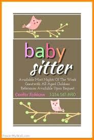 Babysitting Ads Babysitting Advertisement Template Webbacklinks Info