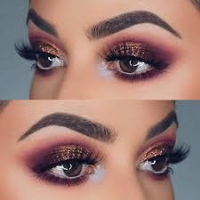 purple and bronze glitter eye makeup idea for prom easy eye makeup tutorial for