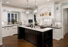 classic led lights in the kitchen design with chandelier above intended for brilliant home chandelier for kitchen island designs