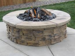 Stacked Stone Fire Pit fire pit concrete blocks fire pit design ideas 2268 by uwakikaiketsu.us
