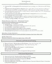Human Resource Resume Samples Resources Sample Entry Level Examples