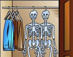 Image result for skeleton in closet