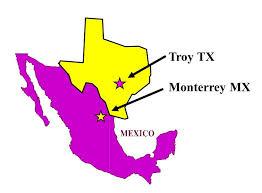 Texas.Mexico Map   Anderton Castings