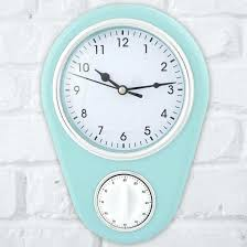 vintage kitchen timer kikkerland streamline red retro clock with