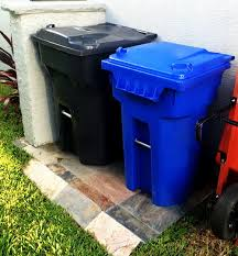 great way to hide outdoor trash and recycle bins hide your garbage bins
