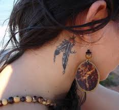 Dream Catcher Tattoo Behind Ear 100 Best Feather Tattoo Designs With Images Piercings Models 24