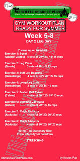 <b>GYM</b> WORKOUT PLAN READY FOR <b>SUMMER WOMEN</b> 2nd month ...