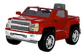 Amazon.com: Rollplay 6V Chevy Silverado Ride-On Vehicle, Red: Toys ...