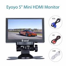 <b>Eyoyo 5 inch</b> Mini HDMI Monitor 800x480 Car Rear View TFT LCD ...