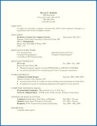 Lvn Resumes Objective For Resume Internship Computer Science Resume Objective 22