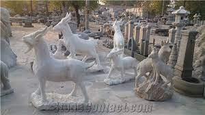 natural granite garden statues animal
