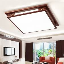 living hall lighting. Chinese Style Wooden Ceiling Lamp Creative Rectangle Hotel Living Room Bedroom Hall Lighting Acrylic
