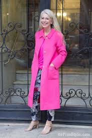 hot in a pink coat or why you should consider a colorful coat this winter