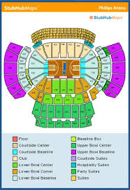 Sap Concert Seating Chart Philips Arena Concert Seating Chart Climatejourney Org
