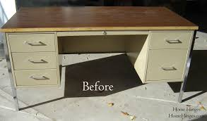 office desk metal. Metal Desk Makeover Before And After Reveal With Regard To Measurements 2304 X 1352 Office Y