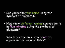 The Periodic Table S1 Chemistry Introduction to Chemistry. - ppt ...