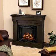 electric fireplace in dark walnut