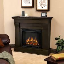 real flame cau 41 in electric fireplace in dark walnut