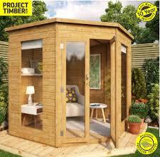 7 x 7 wooden garden corner summerhouse with double door wooden summerhouse