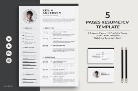 Pages Resume Template Amazing ResumeCV 48 Pages Resume Templates Creative Market