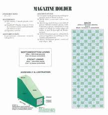 Magazine Holder Template Gorgeous 32 Best Plastic Canvas Patterns Images On Pinterest Plastic