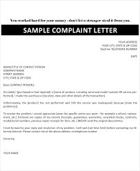 complaint letters sample example format  sample company complaint letter
