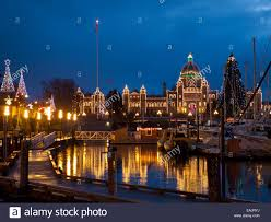 Victoria Parliament Building Lights Christmas Lights Adorn The British Columbia Parliament