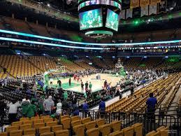 boston celtics seat view for td garden loge 4