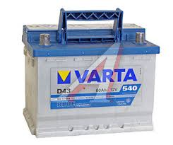 6СТ60D43 Аккумулятор <b>VARTA Blue Dynamic</b> 60А/ч - 6СТ60 D43 ...