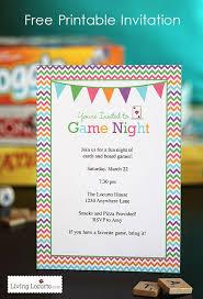 Game Night Invitation Template Game Night Free Printable Party Invitation Freeprintable Party