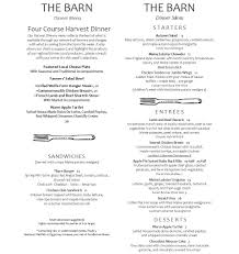 Autumn Dinner Menus Autumn Dinner Harvest Dinner Menus Merrill Farm Inn