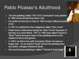 3 pablo picasso s hood the first painting