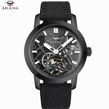 online buy whole skeleton watch from skeleton watch relogio masculino 2016 ailang men s luxury brand military mechanical watches leather hollow skeleton watch relojes hombre