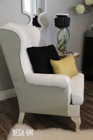 a painted wingback chair and luxury ikea white wing back chair that seems so elegant and neutral to be applied in the luxury interior living room design